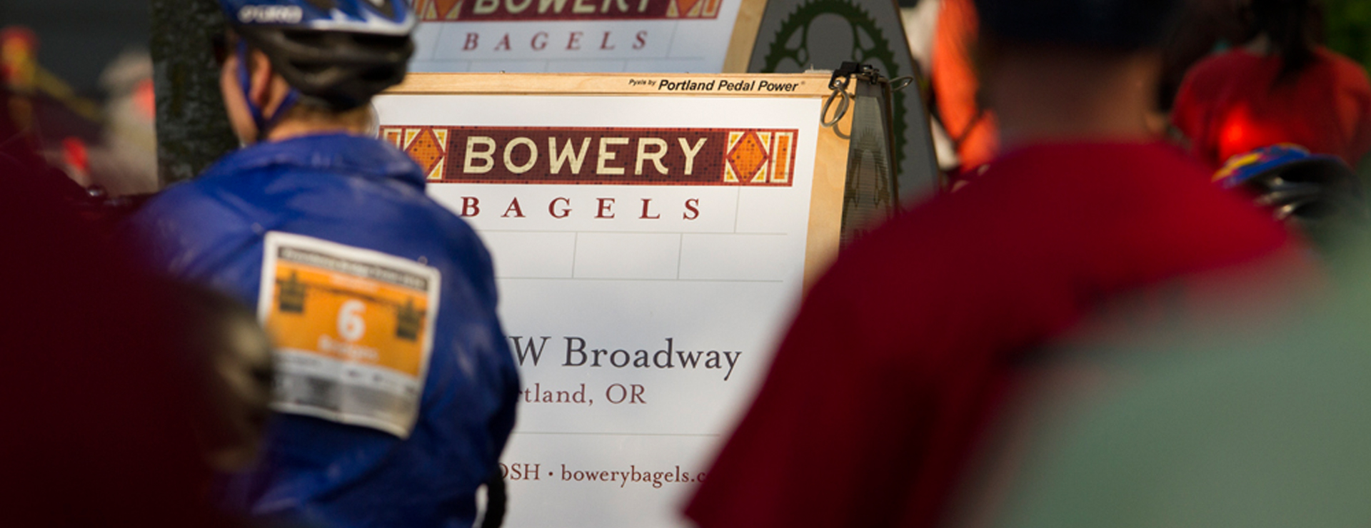 Bower Bagels advertising board